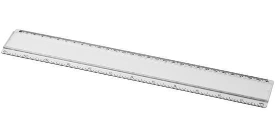 Ellison 30 cm plastlinjal med pappersinlägg med tryck Vit