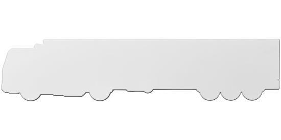 Loki 24 cm lastbilformad plastlinjal med tryck Vit