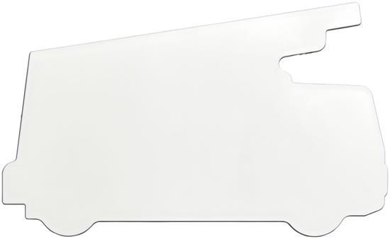 Walker 15 cm brandbilsformad plastlinjal med tryck Vit