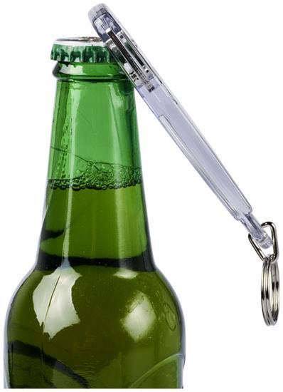 Jibe nyckelring R1 med flasköppnare med tryck Vit