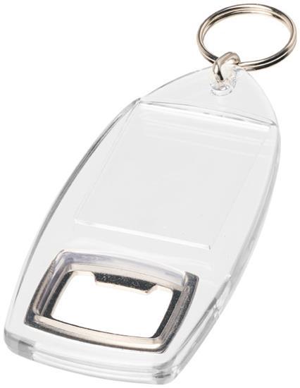 Nyckelring Jibe R1 med kapsylöppnare med tryck Vit