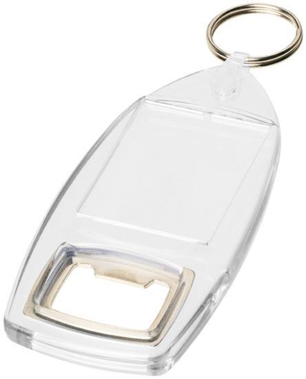 Kai nyckelring R6 med kapsylöppnare med tryck Vit