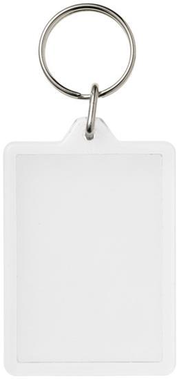 Vito rektangulär nyckelring C1 med tryck Vit