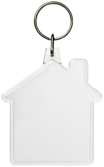 Combo husformad nyckelring med tryck Vit