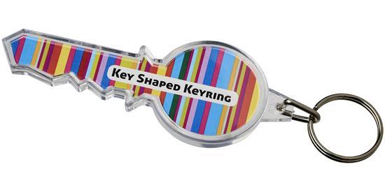 Combo nyckelformad nyckelring med tryck Vit