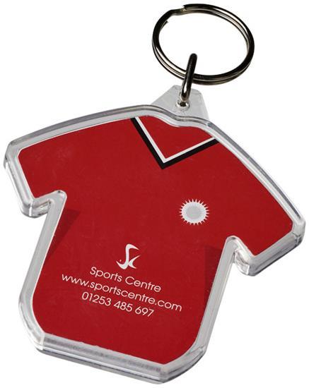 Combo t-shirtformad nyckelring med tryck Vit