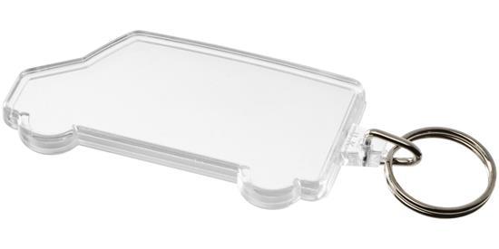 Nyckelring Combo skåpbilformad  med tryck Vit