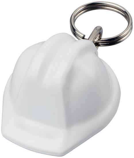 Kolt hjälmformad nyckelring med tryck Vit