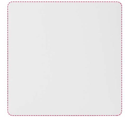 Q-Mat® fyrkantigt underlägg med tryck Svart