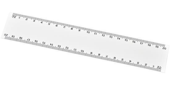 Arc 20 cm flexibel linjal med tryck Vit