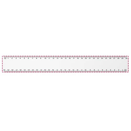 Arc 30 cm flexibel linjal med tryck Vit