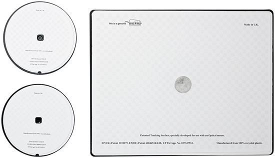 Brite-Mat® Set 2 med musmatta och underlägg med tryck Svart