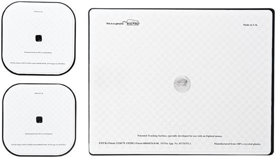 Brite-Mat® Set 3 med musmatta och underlägg med tryck Svart