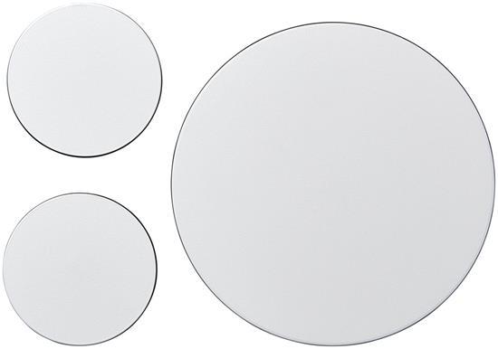 Brite-Mat® Set 5 med musmatta och underlägg med tryck Svart