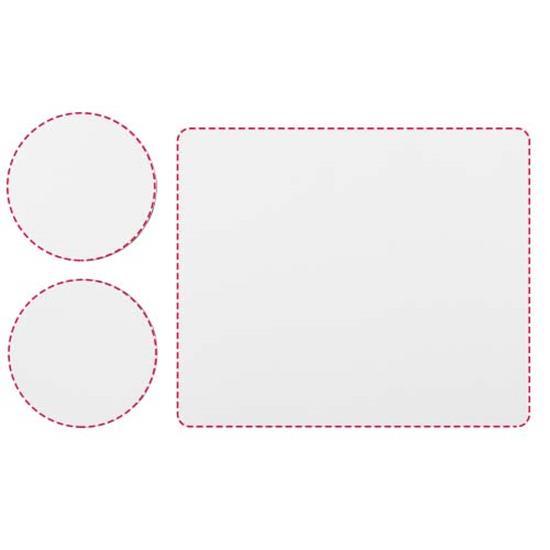 Q-Mat® Set 2 med musmatta och underlägg med tryck Svart
