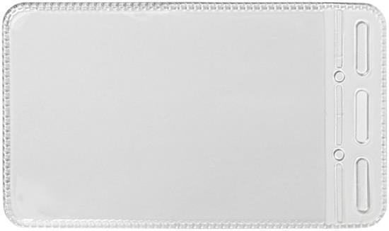 Korthållare Hadi Plastficka med tryck Vit