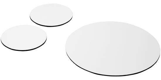 Q-Mat® Set 5 med musmatta och underlägg med tryck Svart