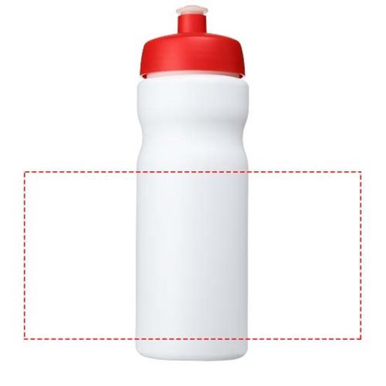 Sportflaska Baseline® Plus 650 ml med tryck Vit/Röd