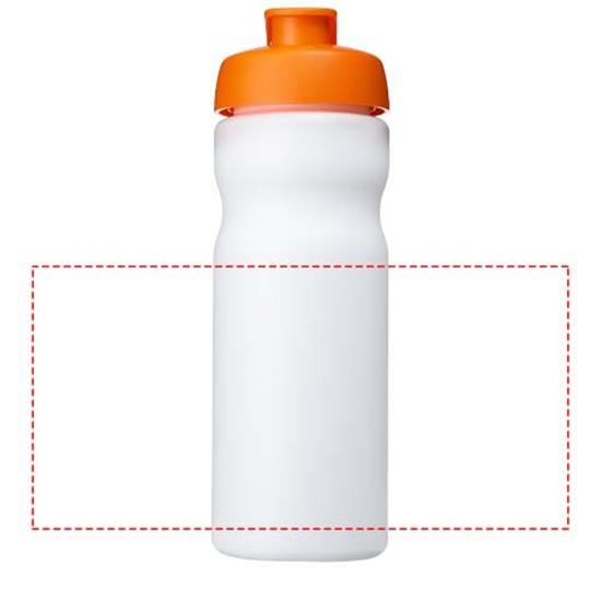 Sportflaska Baseline® Plus 650 ml med tryck Vit/Orange