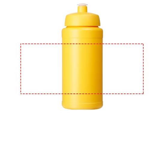 Sportflaska Baseline® Plus 500 ml med tryck Gul
