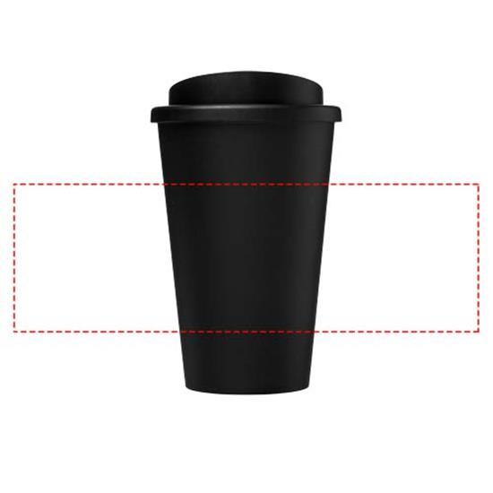 Americano® 350 ml termosmugg Eco med tryck Svart