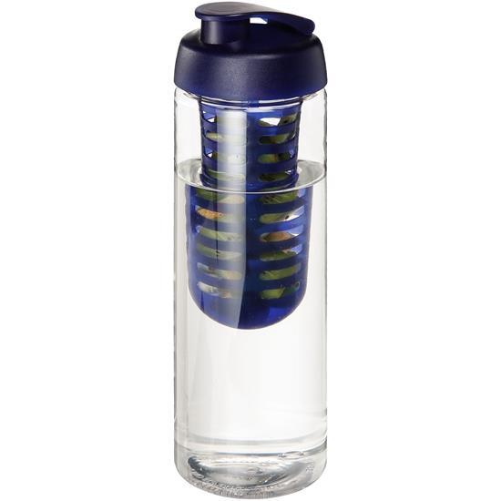 Sportflaska H2O Vibe fruktkolv 850 ml med tryck Blå