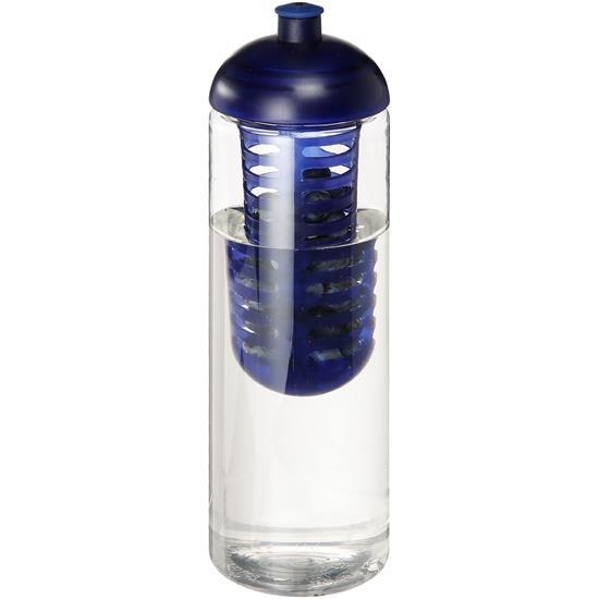 Sportflaska H2O Vibe 850 ml rPET med piplock med tryck Blå