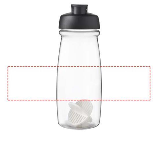 H2O Active Pulse 600 ml shaker-flaska med tryck Svart