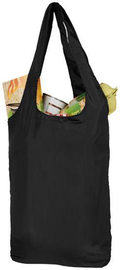 Shoppingpåse Packaway rPET med tryck Svart