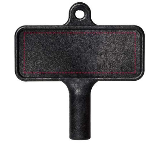 Largo plastnyckel för element med tryck Svart