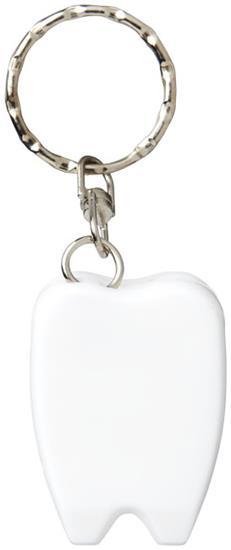 Demi tandtråd med nyckelring med tryck Vit