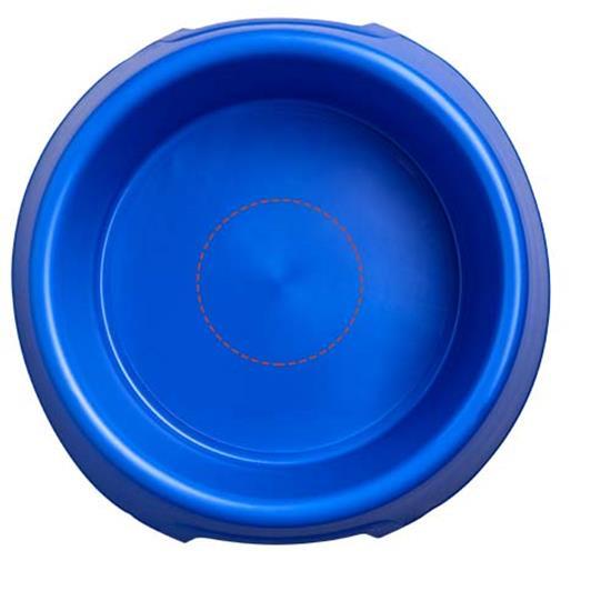 Jethundskål i plast med tryck Blå