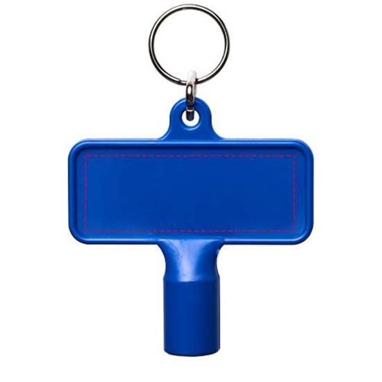 Nyckelring Maximilian med verktygsnyckel med tryck Blå
