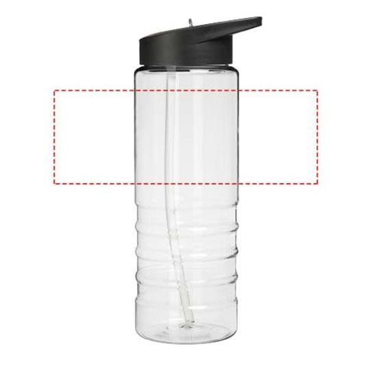 Sportflaska H2O Treble 750 ml med piplock med tryck Svart