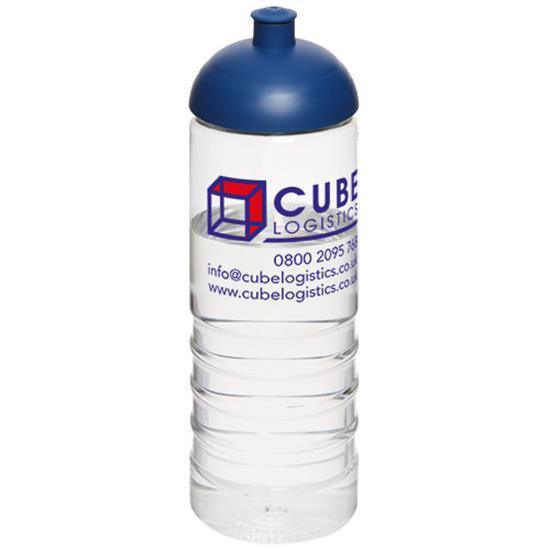 Sportflaska H2O Treble 750 ml rPET med tryck Blå