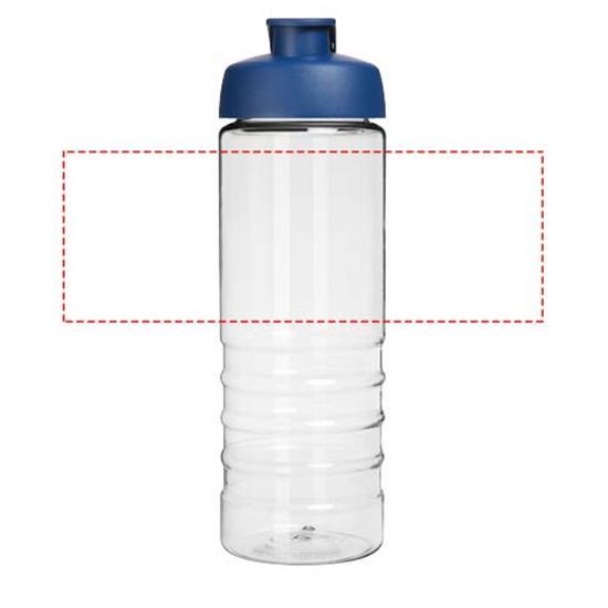 Sportflaska H2O Treble 750 ml med uppfällbart lock med tryck Blå