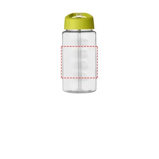 Sportflaska H2O Bop 500 ml med piplock rPET med tryck Limegrön