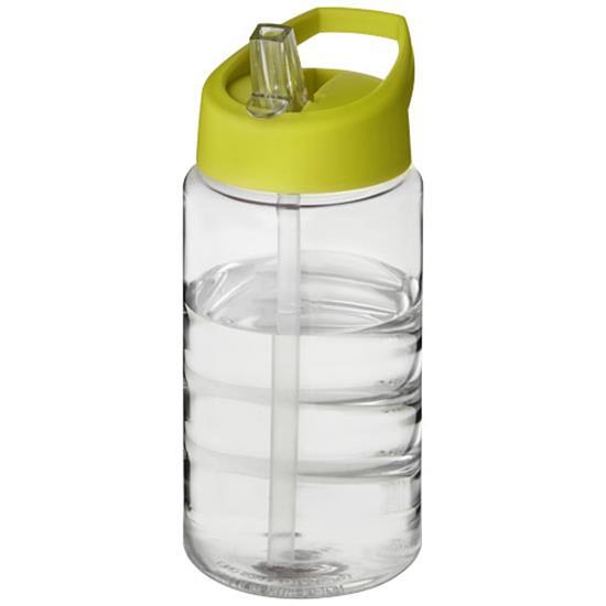 Sportflaska H2O Bop 500 ml rPET med piplock med tryck Limegrön