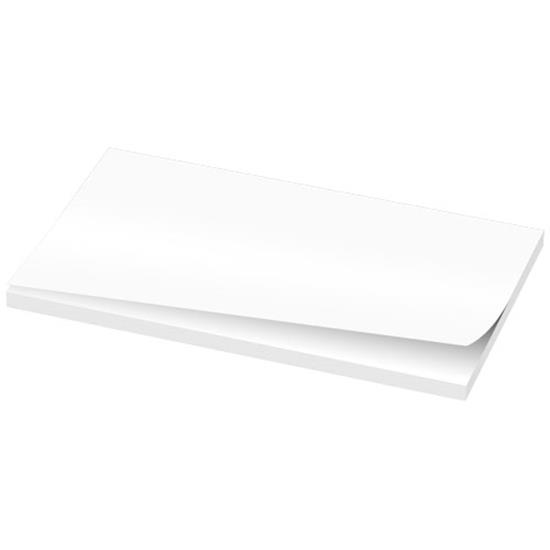 Notisblock Budget Sticky-Mate® 127x75 med tryck Vit