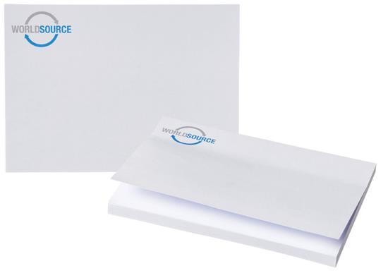 Notisblock Sticky-Mate® 150x100 med tryck Vit