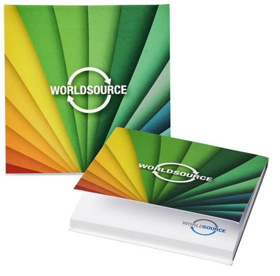 Notisblock Sticky-Mate® softcover 75x75 med tryck Vit