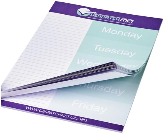 Anteckningsblock Desk-Mate® A4 med tryck Vit