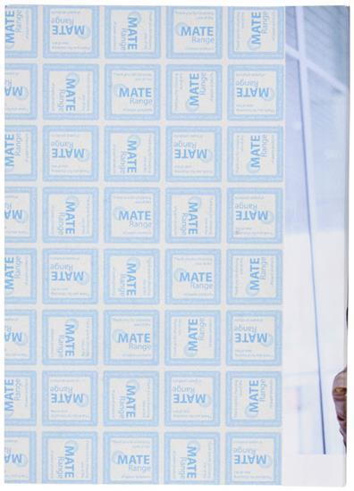 Anteckningsblock Desk-Mate® A5 med omslag med tryck Vit