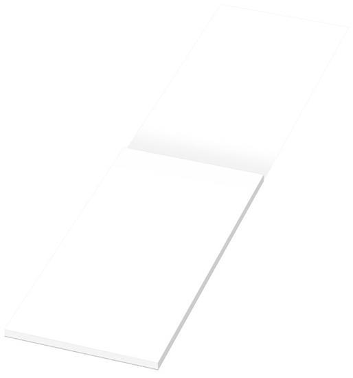 Anteckningsblock Desk-Mate® 1/3 A4 skyddsomslag med tryck Vit