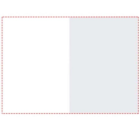 Notislappar-set Combi 100X75 hardcover med tryck Vit