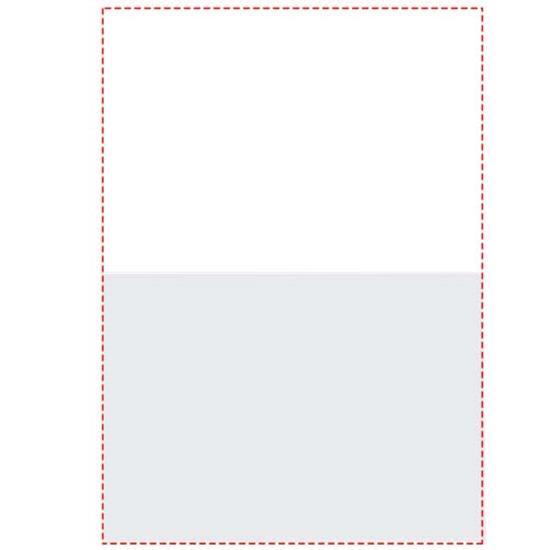 Notislappar-set Combi 75x50 med tryck Vit