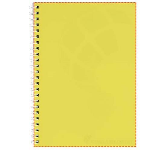 Anteckningsbok Rothko A4 med tryck Gul/Vit