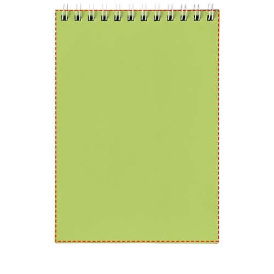 Anteckningsbok Rothko A7 med tryck Ljusgrön/Vit