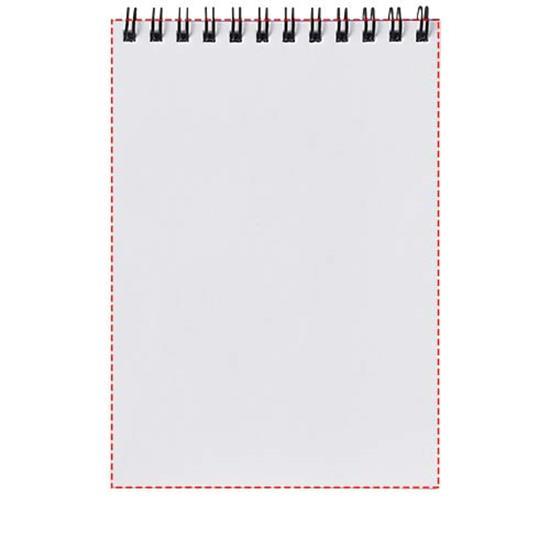 Anteckningsbok Desk-Mate® wire-o A5  PP omslag med tryck Vit/Svart