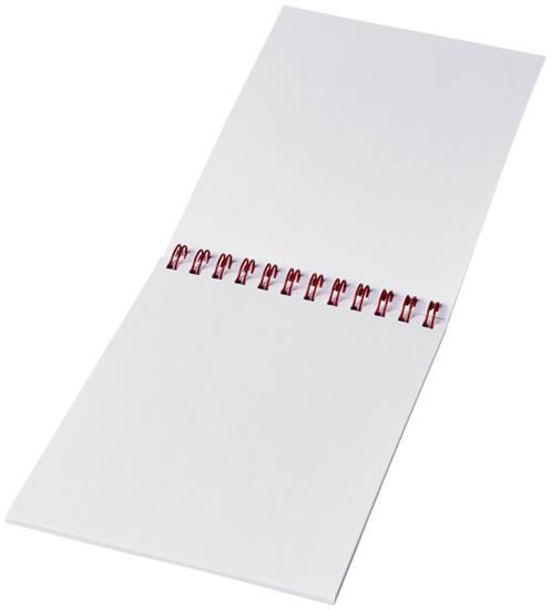 Anteckningsblock Desk-Mate® wire-o A6 med tryck Vit